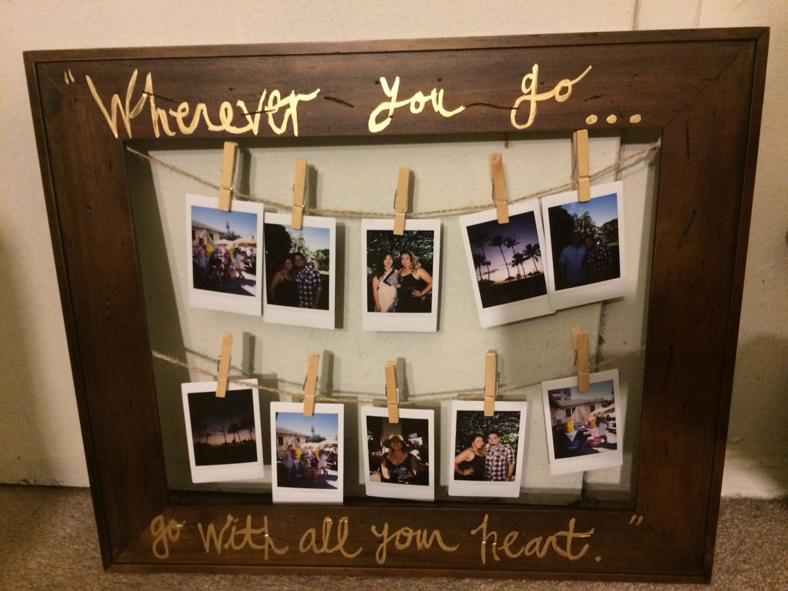 DIY Polaroid frame that I made for my cousins (: | Crafts ...