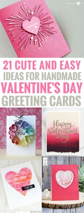 50 Thoughtful Handmade Valentines Cards | Easy handmade cards ...