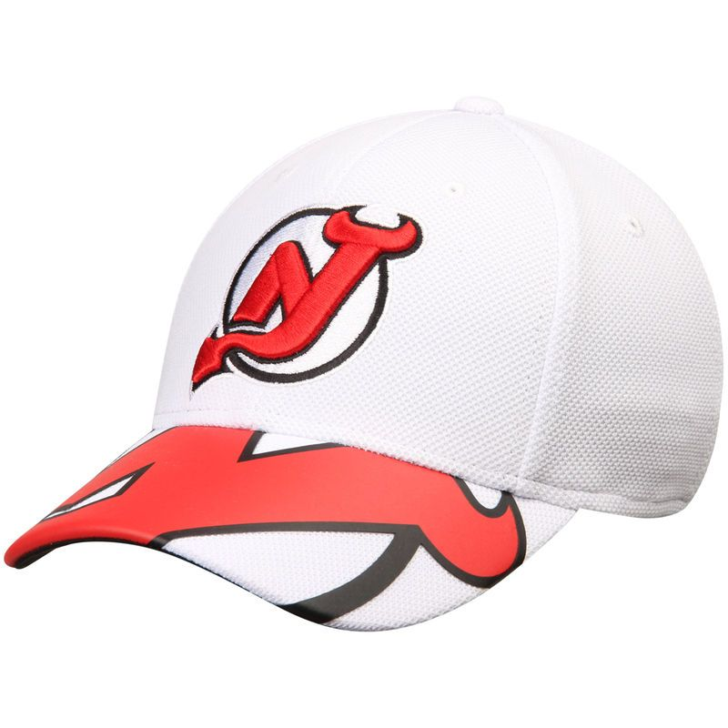 check out 80538 e4d33 New Jersey Devils Reebok Face Off Draft Flex Hat - White