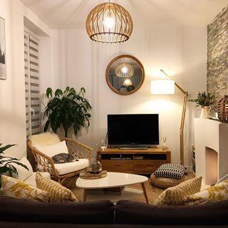 Le Fauteuil En Rotin Ikea Et Le Luminaire Et Le Lampadaire Home