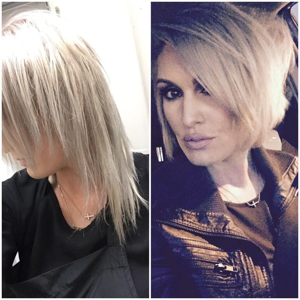 Thin fine hair haircut! Before & after! Best haircut for fine thin ...
