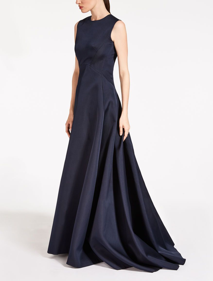 MAX MARA Abito in duchesse.  Dresses, Long blue dress, Cocktail