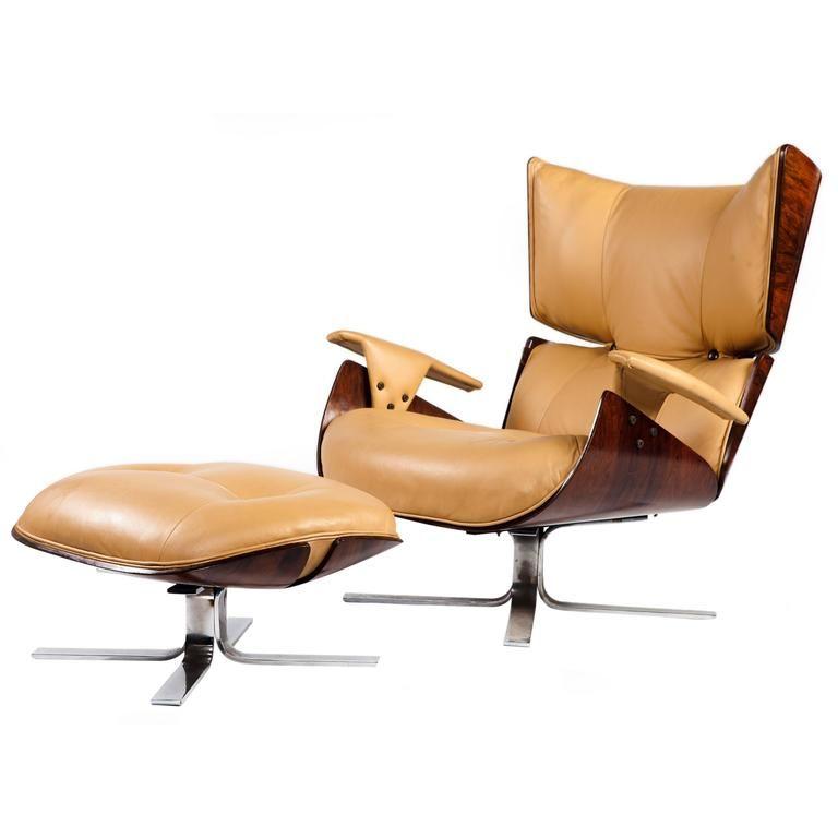 Paulistana Mid Century Modern Lounge Chair And Ottoman By