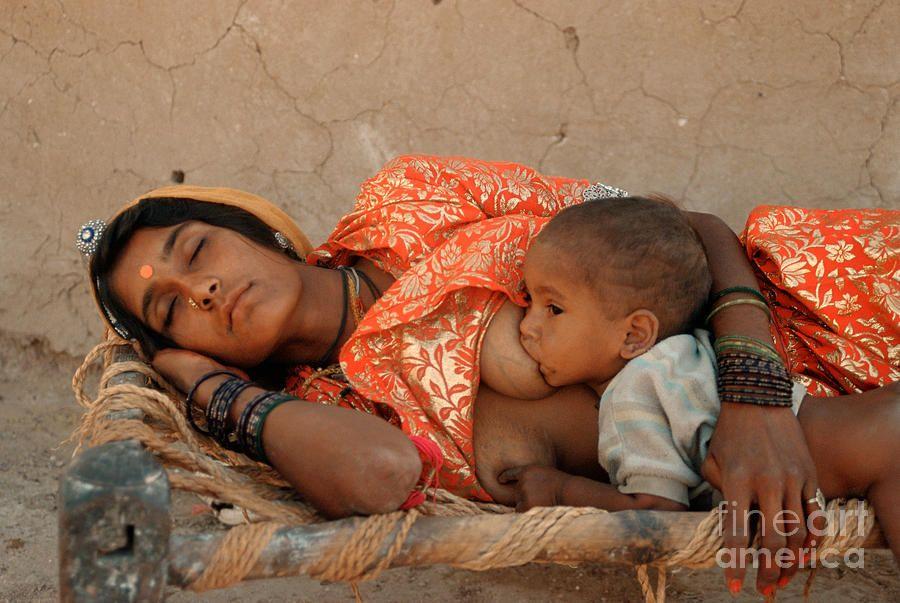 Nude indian breast feeding 3