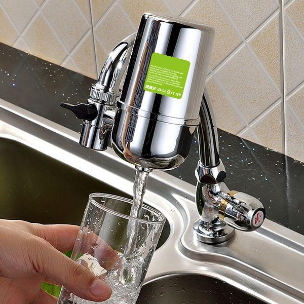 安い蛇口浄水器 直接飲用浄水器家庭用キッチン セラミックスケール