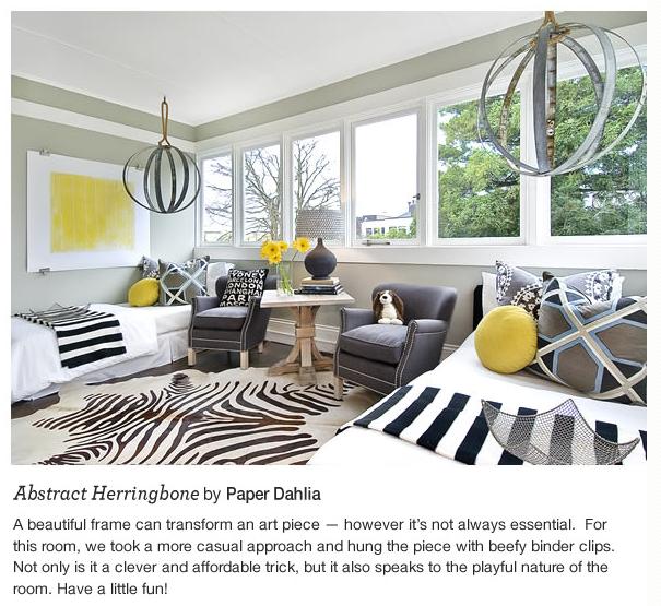Industrial Chic Boys Room By Tamara Mack Designlove The Grey Yellow Way She Hung Big Poster Print