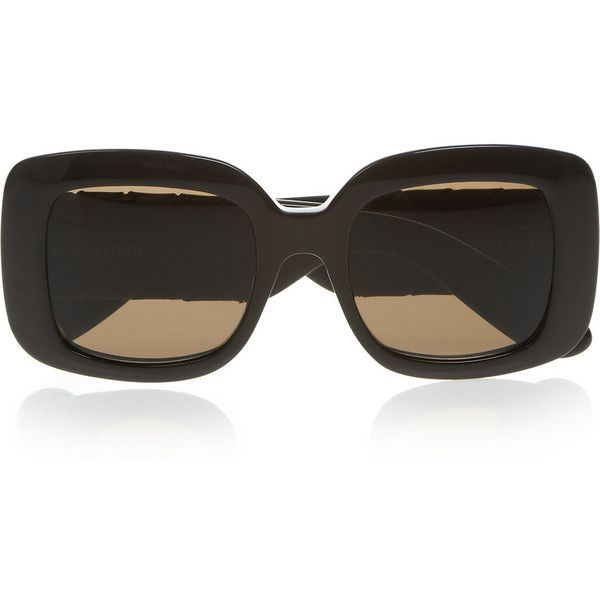75d7d4b887 Bottega Veneta Square-frame acetate and intrecciato leather sunglasses  ( 1