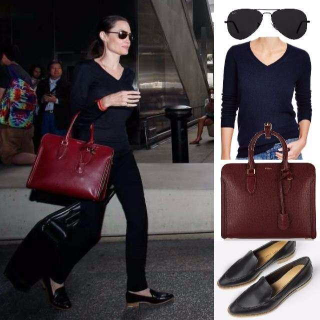 27c113dd4 GET THE LOOK  ANGELINA JOLIE S AFFORDABLE TRAVEL SHOES