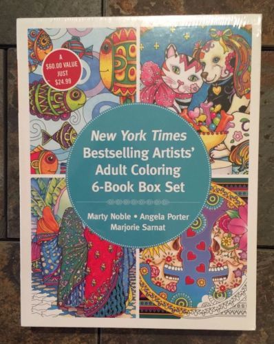 BNIP New York Times Best Selling Artists Box Set Of 6 Adult Coloring Books