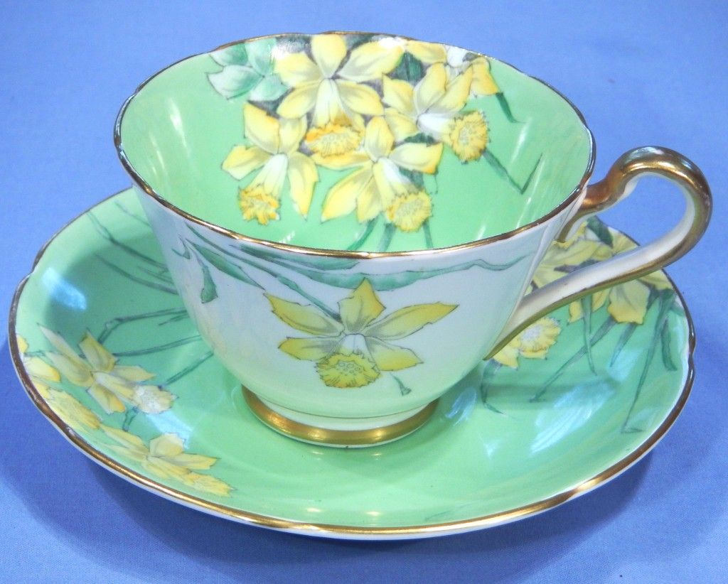 Gladstone China Art Deco Daffodils Bone China Vintage Tea