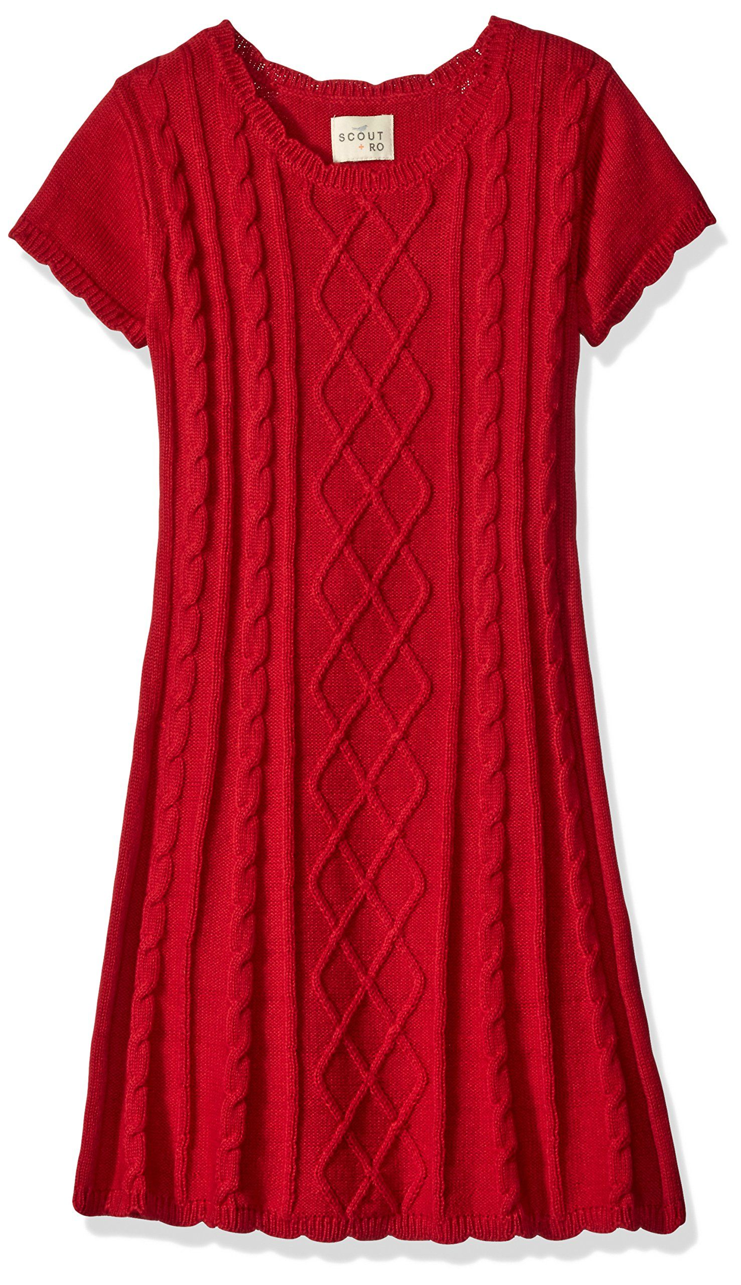 Scout Ro Little Girls Cable Knit Sweater Dress Red 4 Short Sleeve Sweater Dress Featuring Cable Knit Front Cable Knit Sweater Dress Clothes Sweater Dress [ 2560 x 1477 Pixel ]