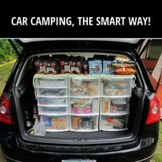 Clever Car Camping Tricks To Try On Your Next Trip 27 Clever Car Camping Tricks To Try On Your Next Trip  Trunk organizer trunk organization trunk shelf SUV trunk DIY tru...