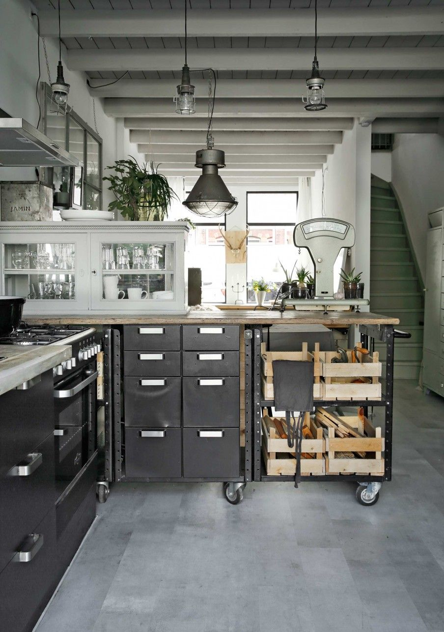 Vintage industrial kitchen | KITCHEN - BLOG | Pinterest | Küche ...