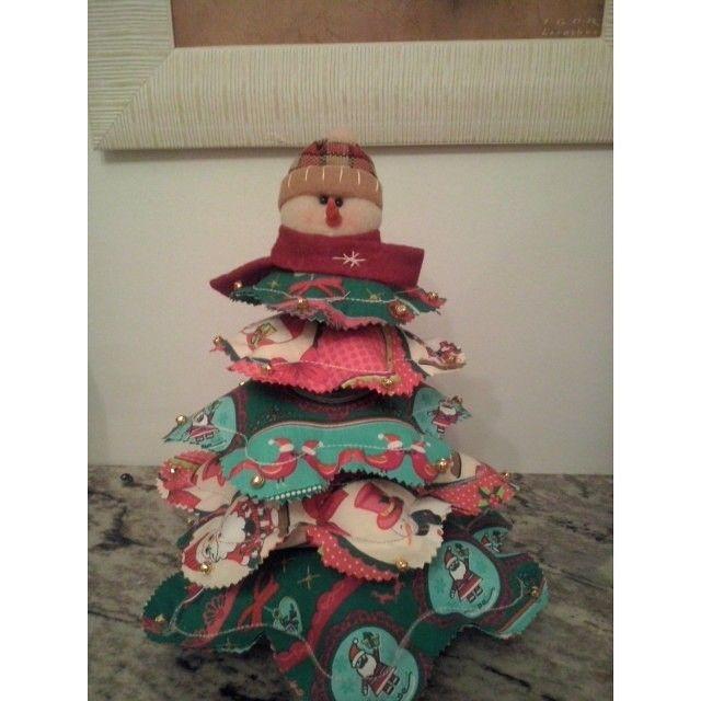 Arvore de natal  de boneco de neve