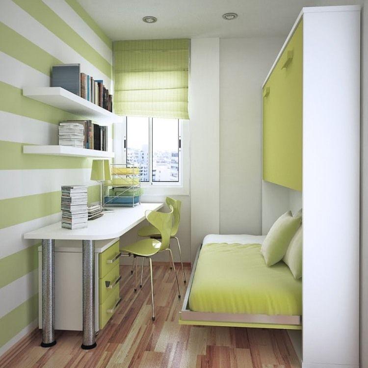 Kleine Jugendzimmer kleines jugendzimmer in weiß und pistaziengrün 원 투룸 오피스텔