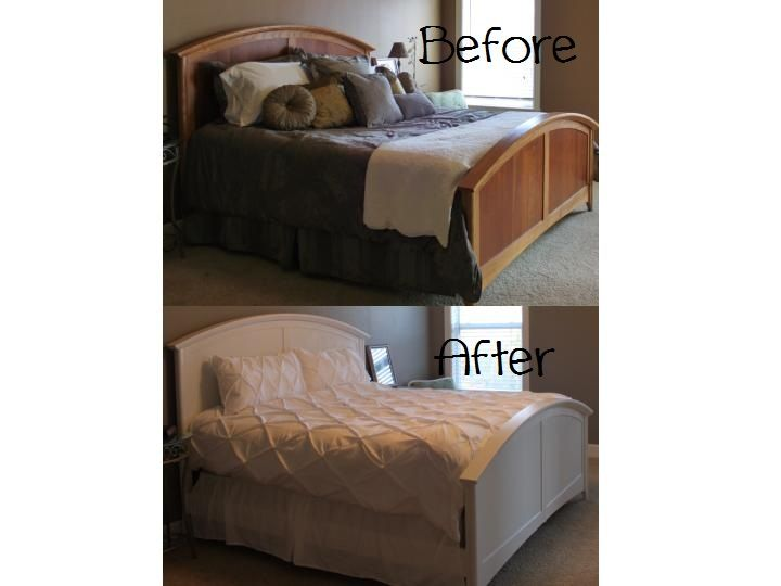 Painted Bed Makeover I Used Zinsser Cover Stain Primer