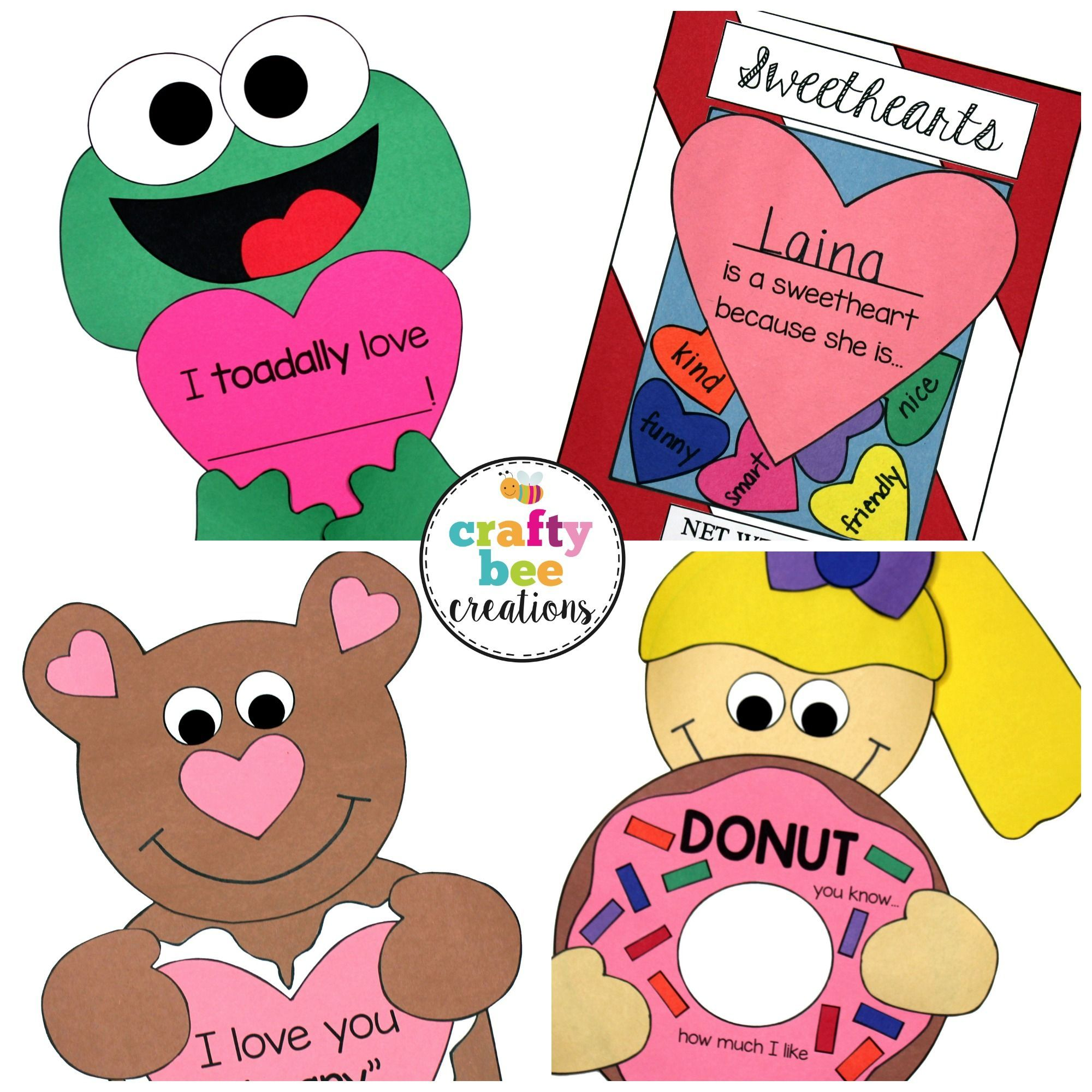 Craft patterns for Valentine's Day perfect for kids to work on their fine motor skills!  They are simple and very easy to use!