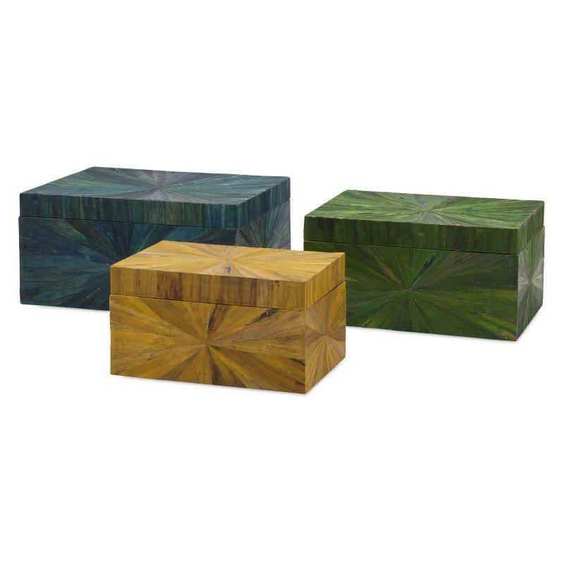 IMAX Trinidad Water Hyacinth Boxes - Set of 3 - 11659-3