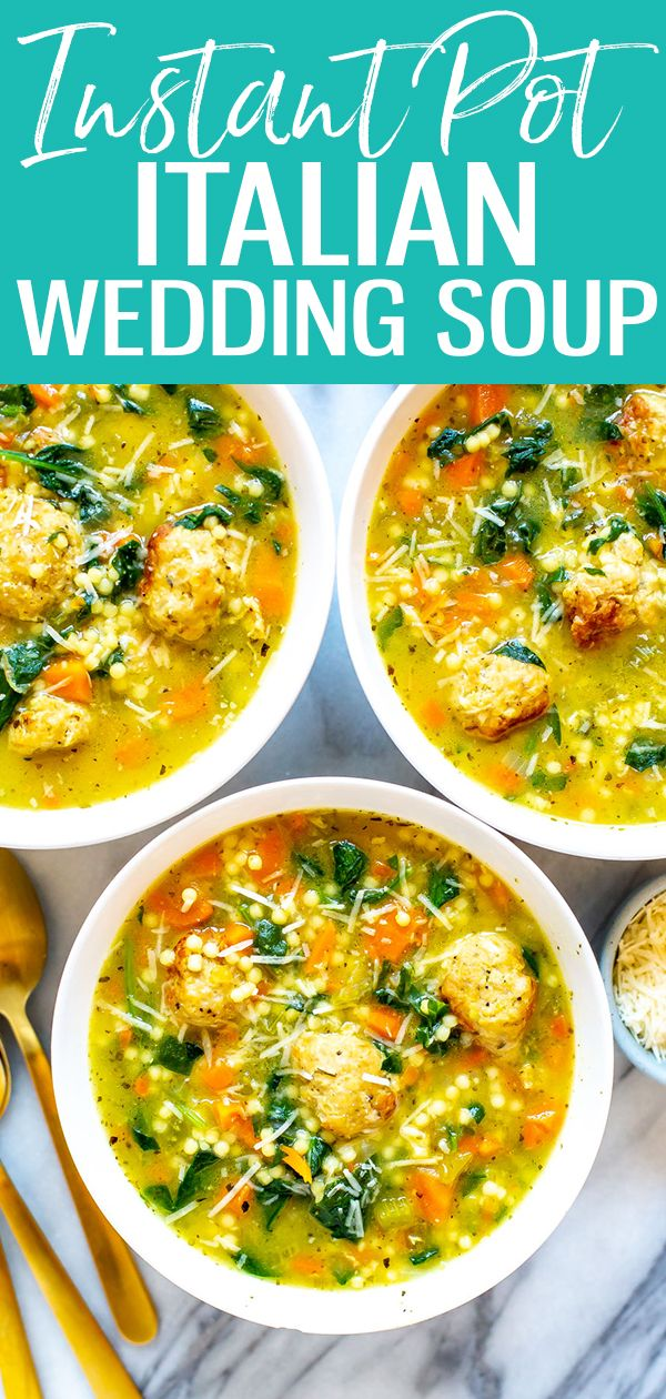 Instant Pot Italian Wedding Soup - Eating Instantly