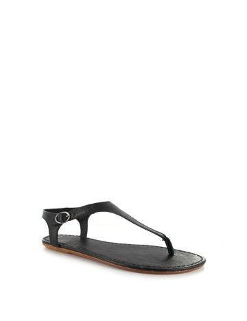 102cf1f30ef3 Leather Thong Sandals with adjustable buckled back-strap. Finished with a rubber  heel