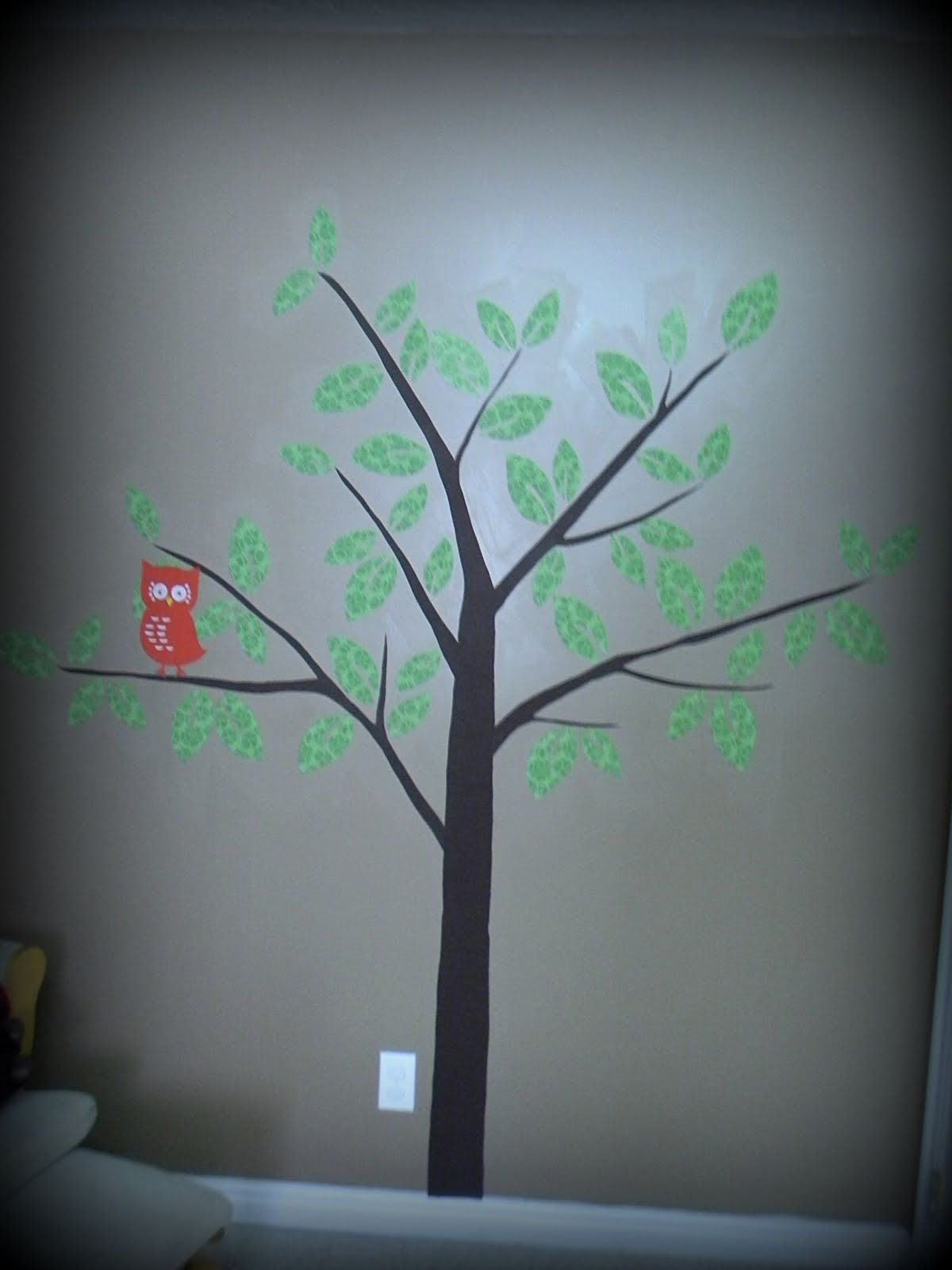 Wall painting stencils kids rooms a mommyus lifewith a touch of yellow fabric tree on wall with