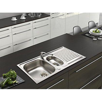 Stockwell Sink 1 5 Bowl Homebase B Q Kitchens Kitchen Sink