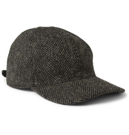 A.P.C. Herringbone Wool Baseball Cap  4108fb057b3
