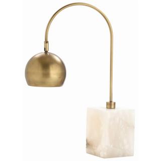 Jana Brass/Marble Adjustable Desk Lamp