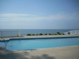 View of the pool that overlooks Lake Michigan