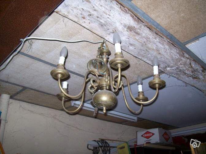 Lustre hollandais 6 branches laiton décoration nord leboncoin fr