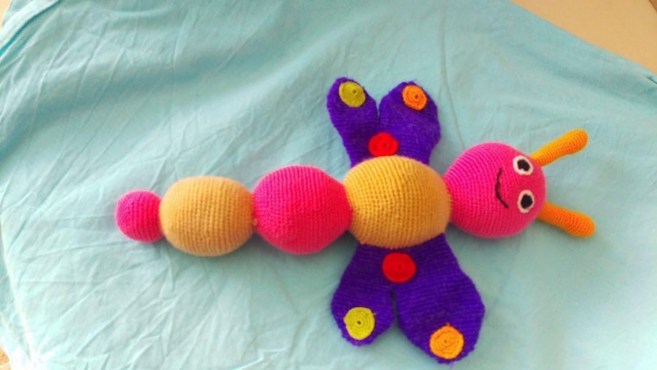 Amigurumi Yapılışı : Amigurumi yapımı oyuncak Örgü tırtıl kelebegin kanat motifinin