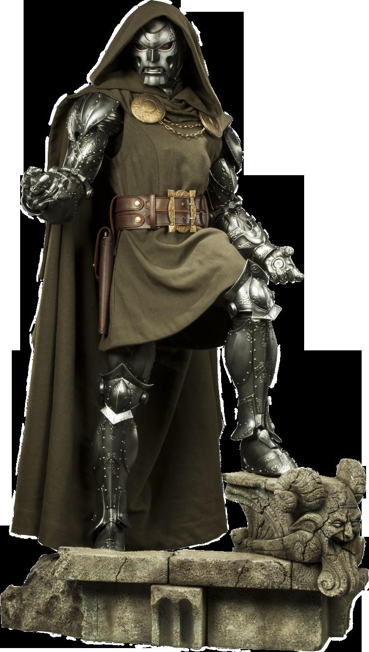 Fantastic Four Doctor Doom Legendary Scale Statue Vingadores Personagens Bonecos Colecionaveis Personagens Street Fighter