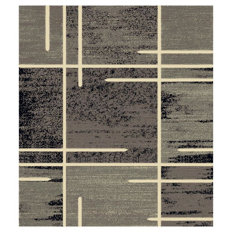 B324 Grey Abstract Square Rug 7x10 Ft Square Rugs Rugs Affordable Rugs