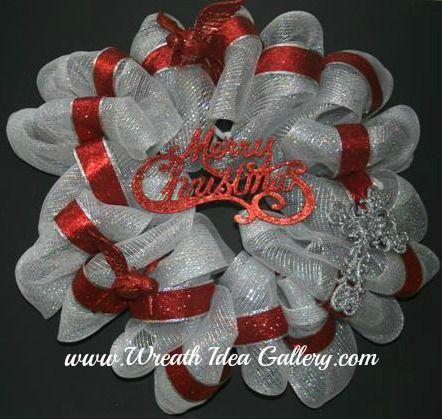 christmas wreaths - How To Make A Christmas Wreath With Mesh