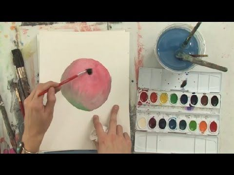 How To Fix Dried Watercolors Watercolor Painting Youtube