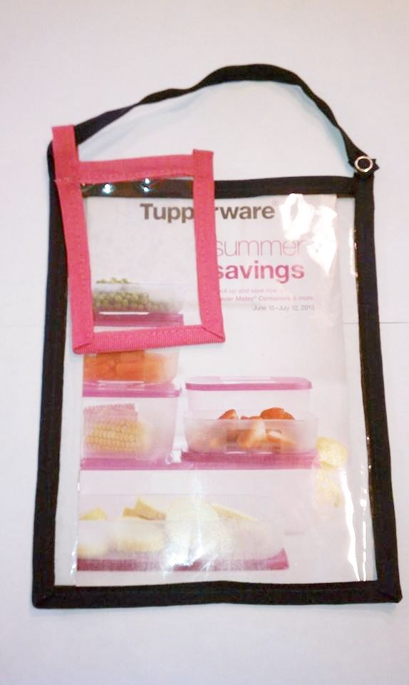 Tupperware mini catalog holder 9x7 with business card holder add tupperware mini catalog holder 9x7 with business card holder add on colourmoves Images