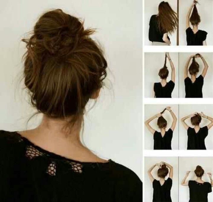 Diy Hairstyles Easy For Summer Messy Bun Hair Pinterest