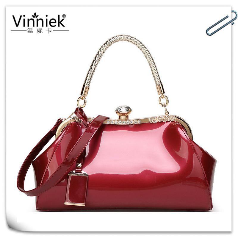 9ef206b86aae Vinniek Vintage Bags Handbags Women Famous Brands Messenger bag Diamonds  Shoulder bag 2017 High Quality Patent