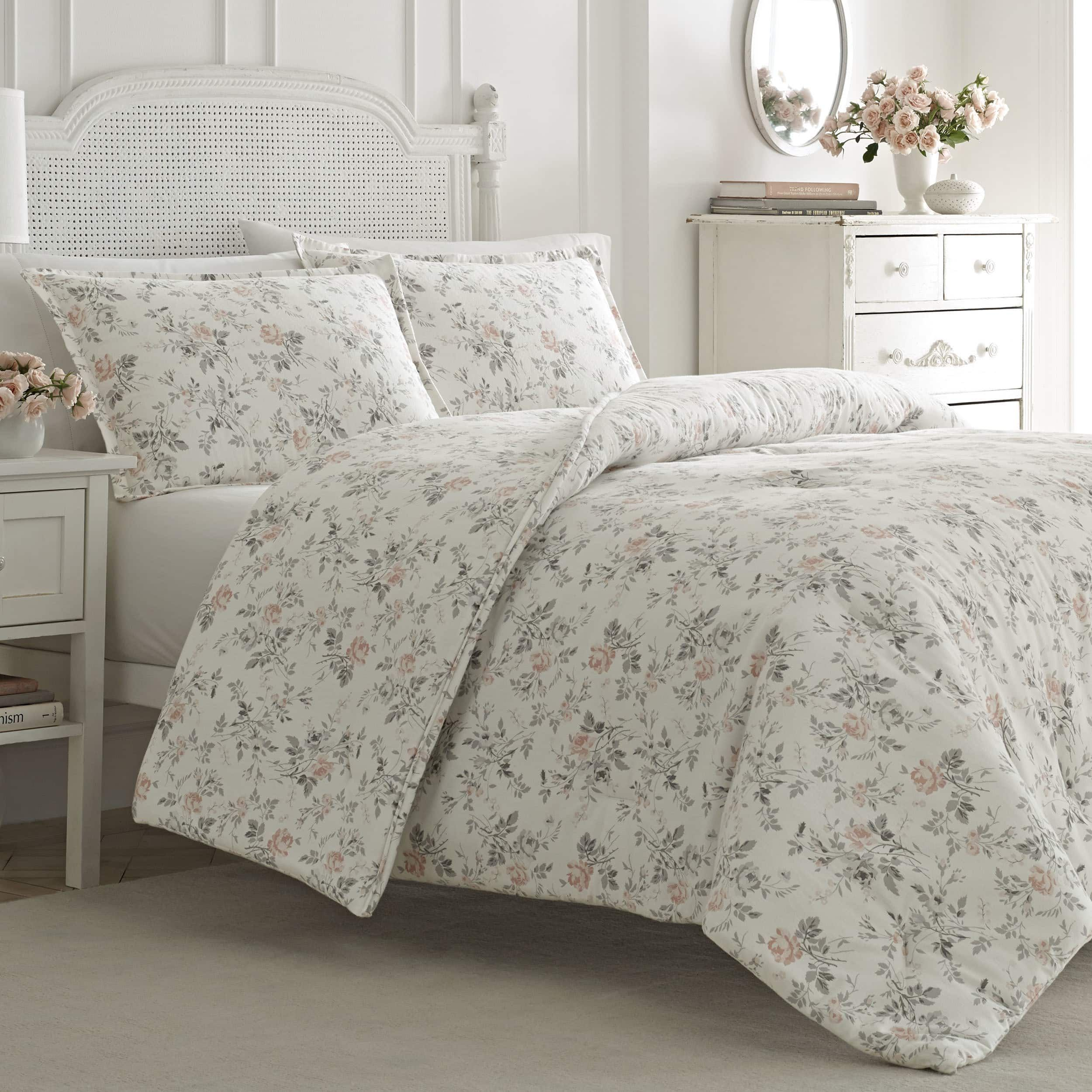 Laura Ashley Rosalie Pink Flannel Comforter Set Products