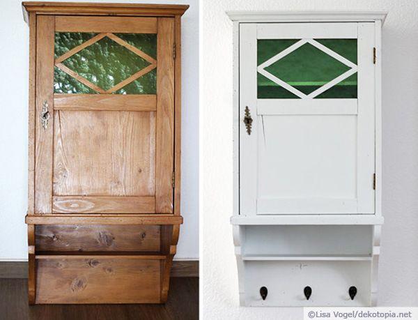 Arzneischrank_vorher-nachher_wm DIY fürs Zuhause Pinterest - küche lackieren vorher nachher
