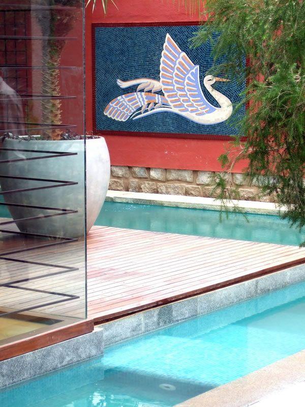 Modern Tropical by Made Wijaya - Marble?Slate? Pool tiles ...