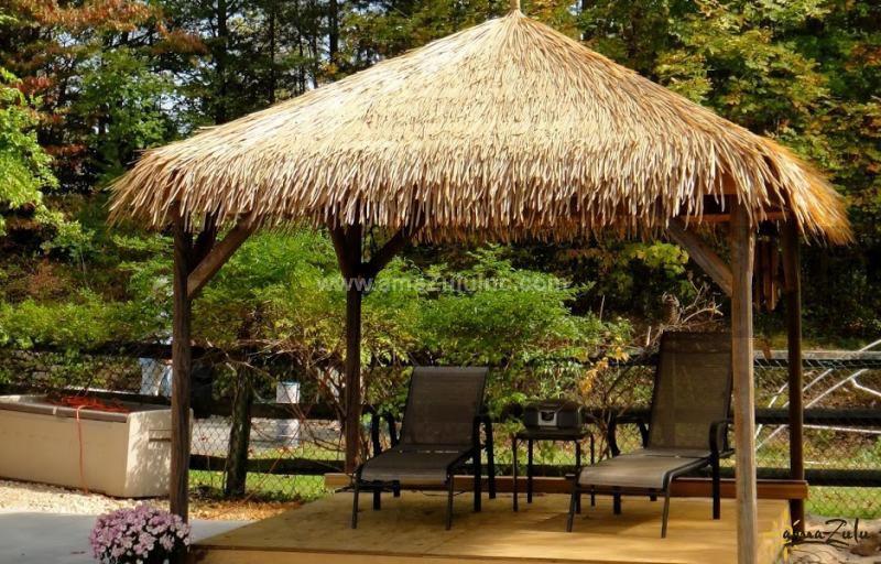 Gazibo Viro Thatch Palm Subroof In Java And Bali Styles Amazulu Thatched Roof Thatch Tiki Hut