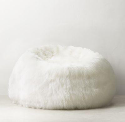 Kashmir Faux Fur Bean Bag