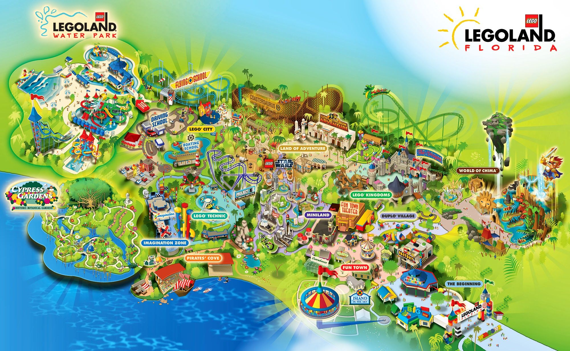 Llf245 park map 2013 2000 1232 orlando for Winter vacations in florida