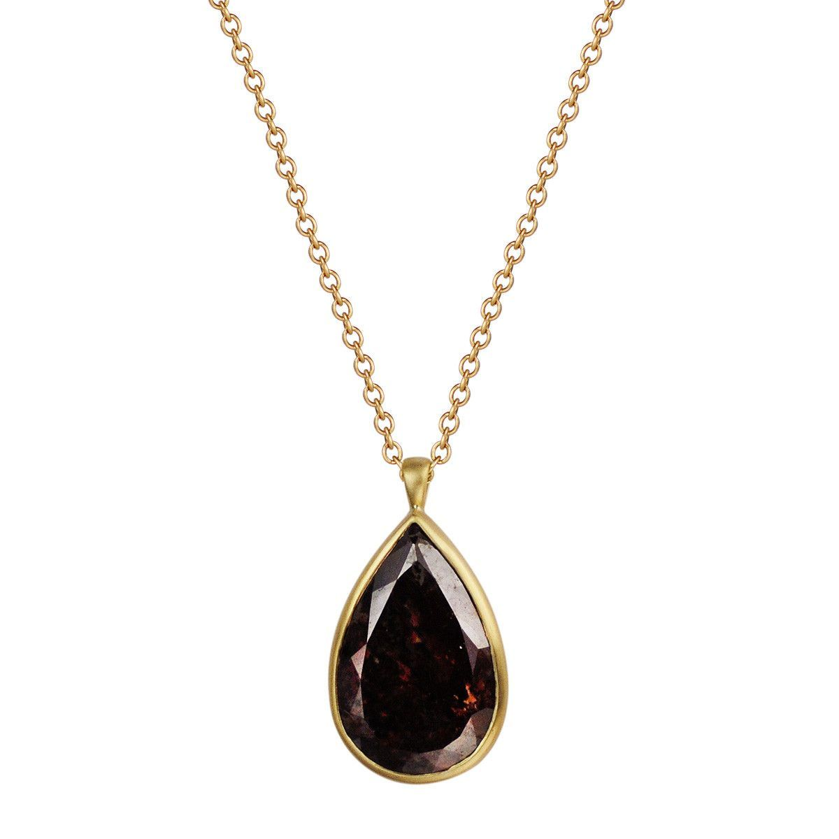 K gold pear shape opaque diamond pendant projects to do