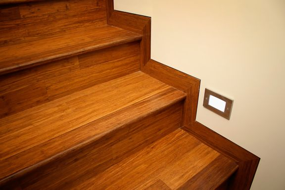 Wonderful Installing Bamboo Staircase And Flooring