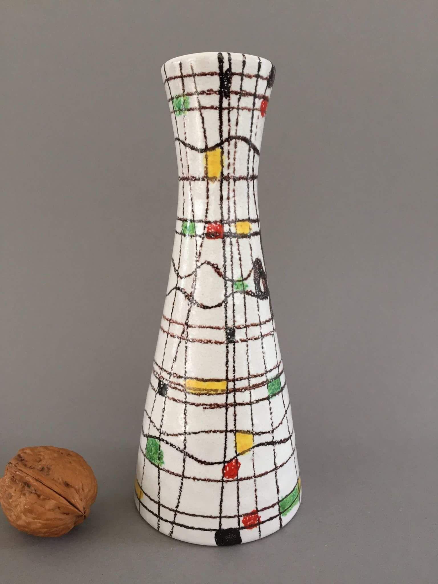 Attractive Vintage Italian Mid-Century Ceramic Vase 1950s