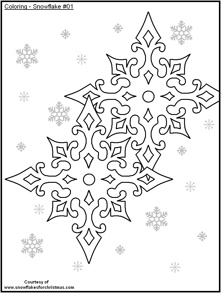 Free Printable Snowflakes To Color Paper Art Snowflake