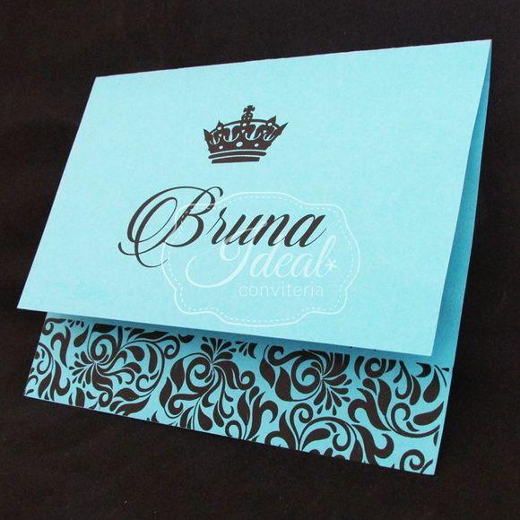 510a4d919 Convite 15 anos - Azul Tiffany