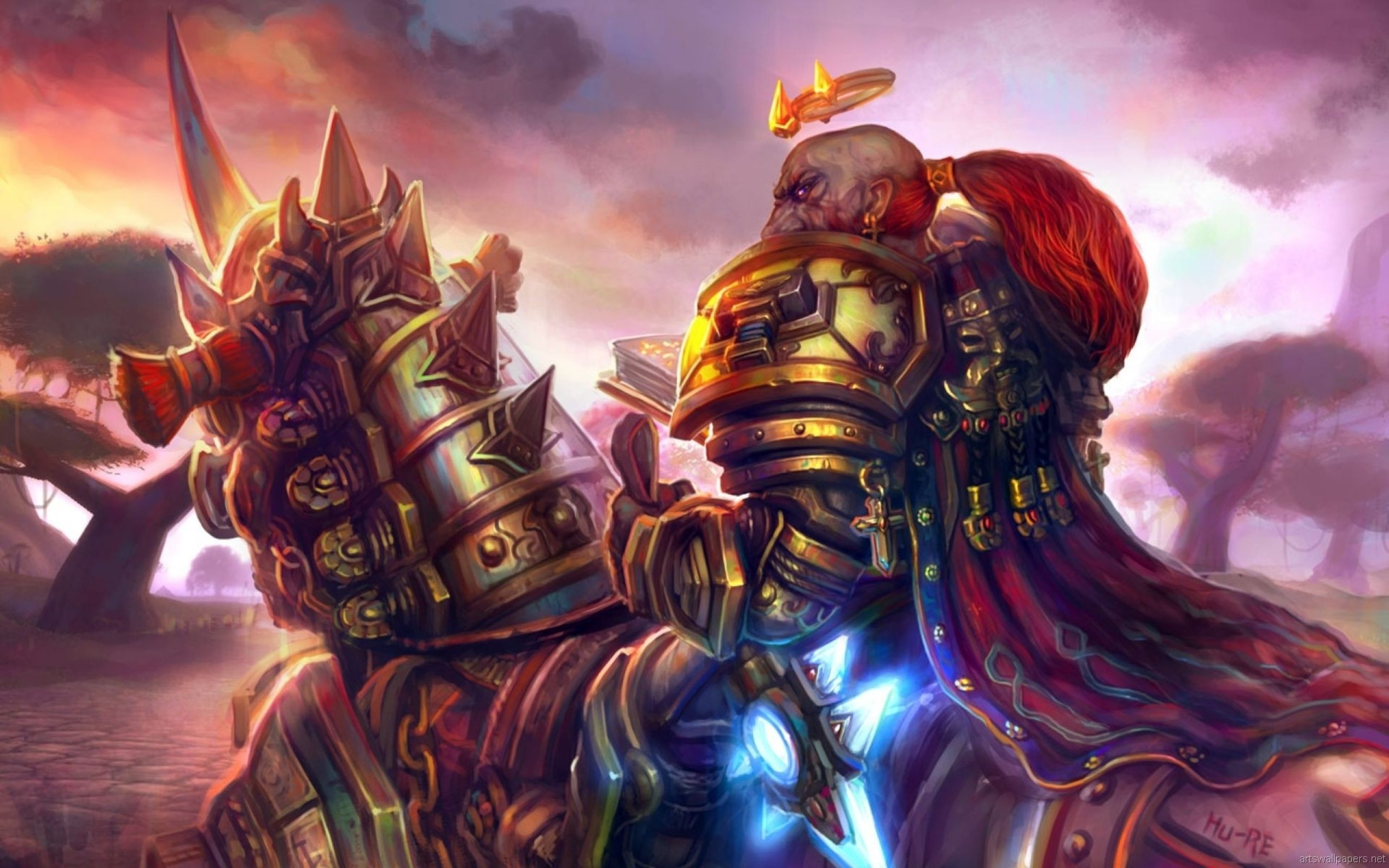 World Of Warcraft Fantasy Art Dwarfs Paladin Warriors 1920x1200
